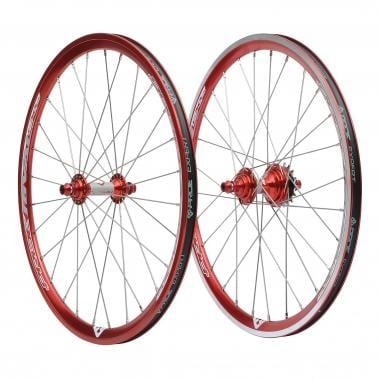 Par de rodas PRIDE RIVAL EX 28H 20x1-3/8 Vermelho