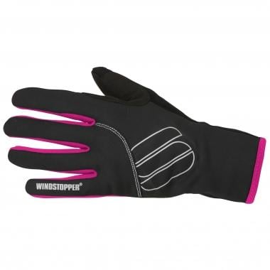 Guanti SPORTFUL ESSENTIAL WINDSTOPPER Donna Nero/Fucsia