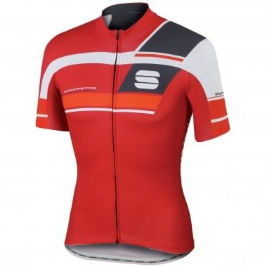 Maillot SPORTFUL GRUPPETTO PRO TEAM Manches Courtes Rouge/Gris 2016