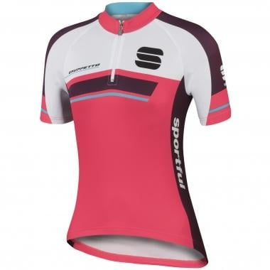 Maillot SPORTFUL GRUPPETTO Enfant Manches Courtes Rose/Rouge/Turquoise
