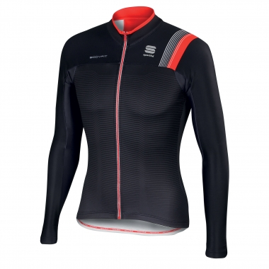 Maillot SPORTFUL BODYFIT THERMAL Manches Longues Noir/Gris/Rouge 2016