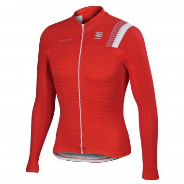 Maillot SPORTFUL BODYFIT THERMAL Manches Longues Rouge/Blanc