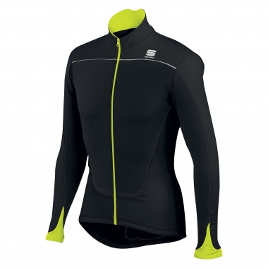 Maillot SPORTFUL FORCE THERMAL Mangas largas Negro/Amarillo fluorescente 2016