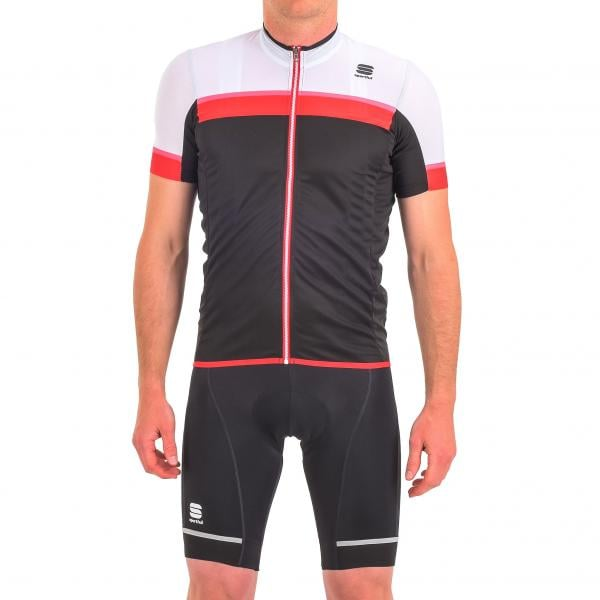 d6b6f739a SPORTFUL PISTA Short-Sleeved Jersey Black White Red 2017 - Probikeshop