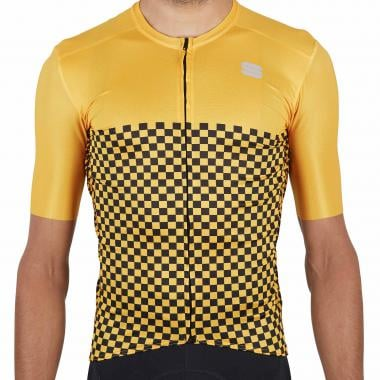 Maillot SPORTFUL CHECKMATE Manches Courtes Jaune 2021