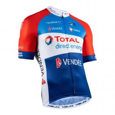 Maillot NALINI TOTAL DIRECT ENERGIE Manches Courtes Bleu  2021