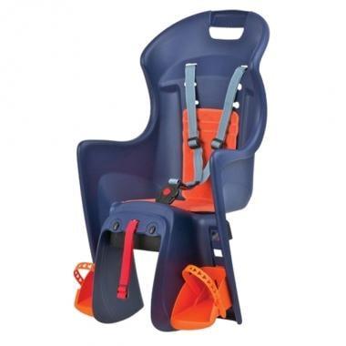 Cadeira porta bebé POLISPORT BOODIE Fixação porta bagagens Azul/Laranja