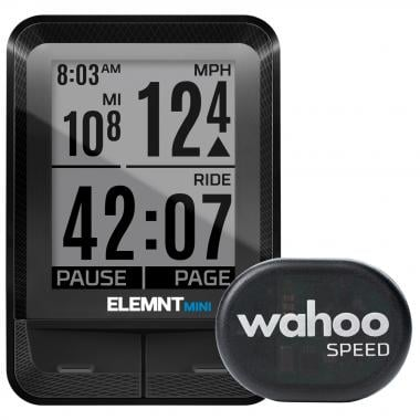 Ciclocomputador WAHOO ELEMNT MINI + Sensor de Velocidade RPM