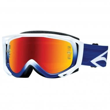 Maschera SMITH OPTICS FUEL V.2 SWEAT-X M Bianco/Blu Lente Specchio