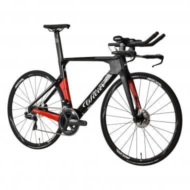Vélo de Contre La Montre WILIER TRIESTINA TURBINE DISC Shimano Ultegra Di2 R8070 39/53 Noir/Rouge