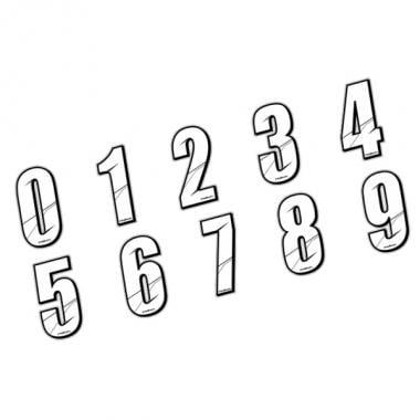 Numéro de Plaque MAIKUN 10 cm Blanc