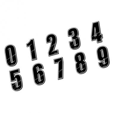 Números para dorsal MAIKUN 8 cm Negro