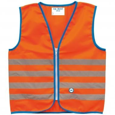 Gilet di Sicurezza Riflettente WOWOW FUN JACKET Bambino Arancione