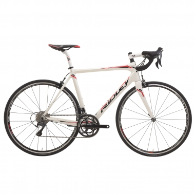Bicicleta de carrera RIDLEY FENIX CARBON START TO RIDE Shimano Ultegra 6800 34/50 Blanco/Rojo 2016