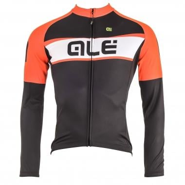 Maillot ALE GRAPHICS EXCELL Manches Longues Noir/Orange Fluo 2016