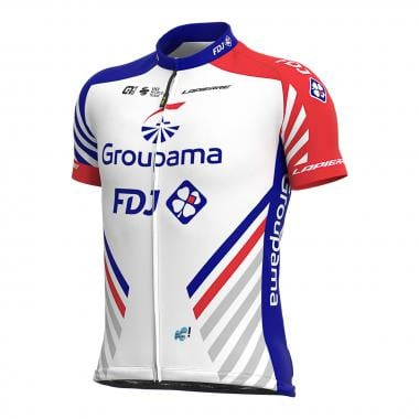 Maillot ALE GROUPAMA FDJ Manches Courtes Blanc 2020