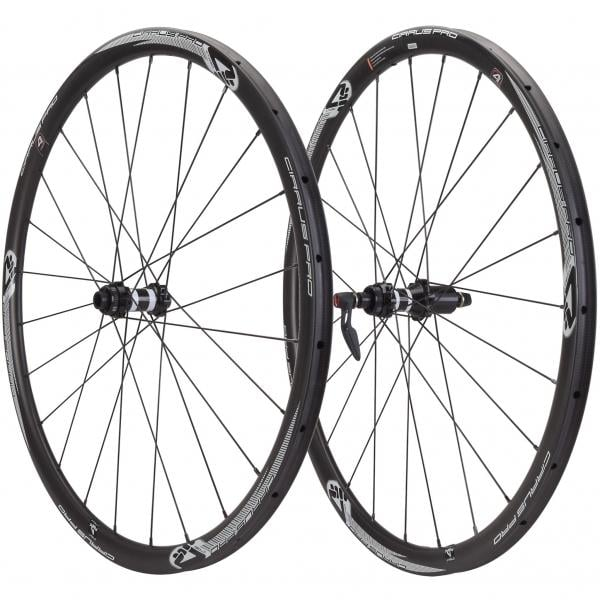 4za Cirrus Pro Black White Label T30 Disc Tubular Wheelset Center