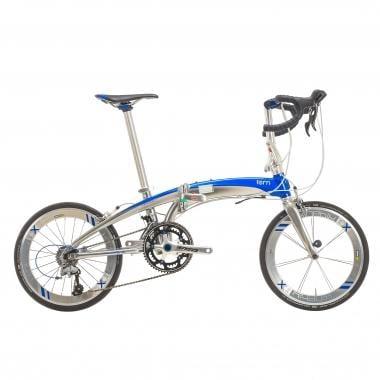 Vélo Pliant TERN VERGE X18 Bleu/Chrome