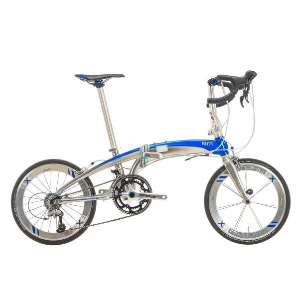 Bicicleta plegable TERN VERGE X18 Azul/Cromado - Bikeshop