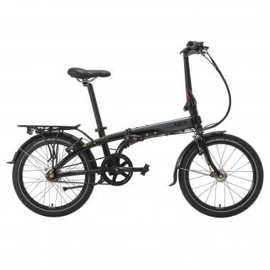 Bicicleta Dobrável TERN LINK D7i + Dínamo e Porta-Bagagens Preto/Cinzento