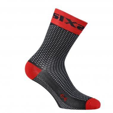 Chaussettes SIXS SHORT S Noir/Rouge