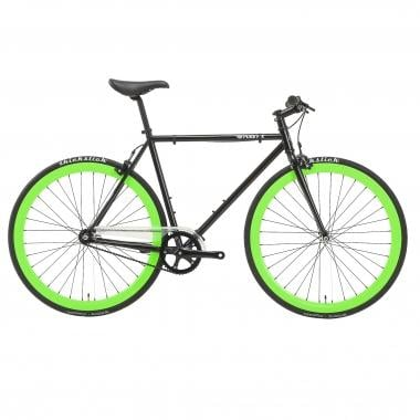 Bicicletta Fixie PURE FIX CYCLES GLOW THE HOTEL Nero/Verde Fluo