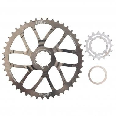 Kit de Conversion 45 Dents ONE UP COMPONENTS pour Cassette 11V Shimano XTR/XT avec Pignon 18 Dents Gris