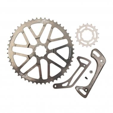 Kit de Conversion 50 Dents ONE UP COMPONENTS pour Cassette 11V Shimano XT 11-42 avec Pignon 18 Dents Gris