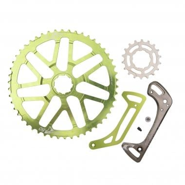 Kit de Conversion 50 Dents ONE UP COMPONENTS pour Cassette 11V Shimano XT 11-42 avec Pignon 18 Dents Vert