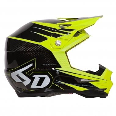 Casque 6D ATB-1 CARBON ATTACK Jaune Fluo