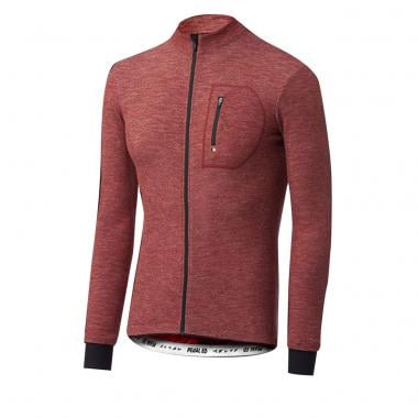 Maillot PEDALED KAIDO WOOL Manches Longues Bordeaux