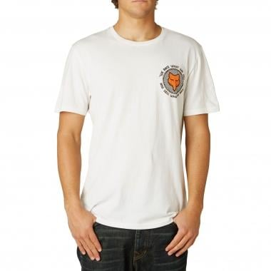 T-Shirt FOX FIRST RACE Branco
