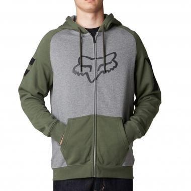 Sudadera con capucha FOX HEIGHTEN ZIP Gris/Verde