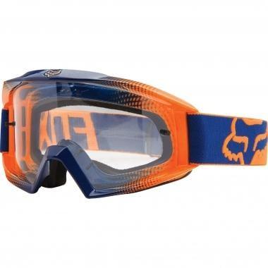 Gafas máscara FOX MAIN RACE 2 Naranja/Azul Lente transparente