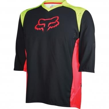 Maillot FOX ATTACK Manches 3/4 Jaune Fluo