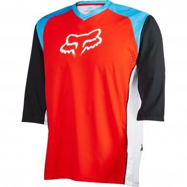 Maillot FOX ATTACK Manches 3/4 Cyan