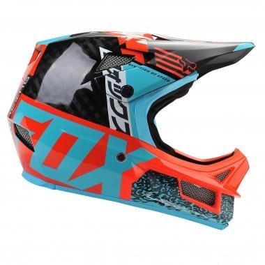 Casque FOX RAMPAGE PRO CARBON MIPS Bleu/Rouge