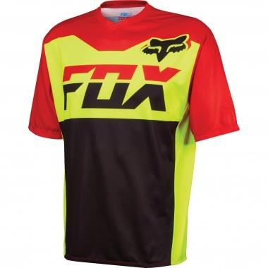 Maillot FOX COVERT Manches Courtes Jaune Fluo