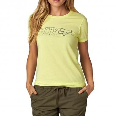 Camiseta FOX SCREEN CREW Mujer Amarillo 2016