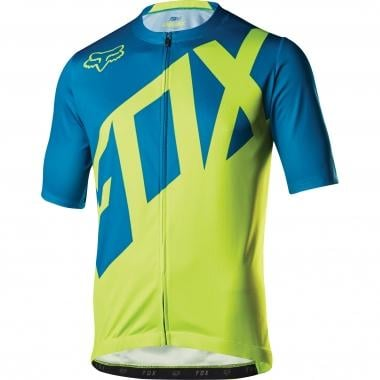 Maillot FOX LIVEWIRE Manches Courtes Turquoise 2017