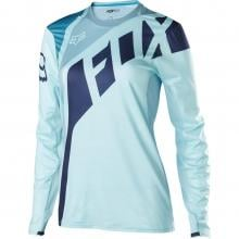 Maillot FOX FLEXAIR SECA Femme Manches Longues Turquoise 2017