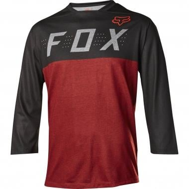 Maillot FOX INDICATOR Manches 3/4 Noir/Rouge 2017