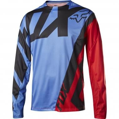 Maillot FOX DEMO CREO Manches Longues Bleu/Rouge 2017