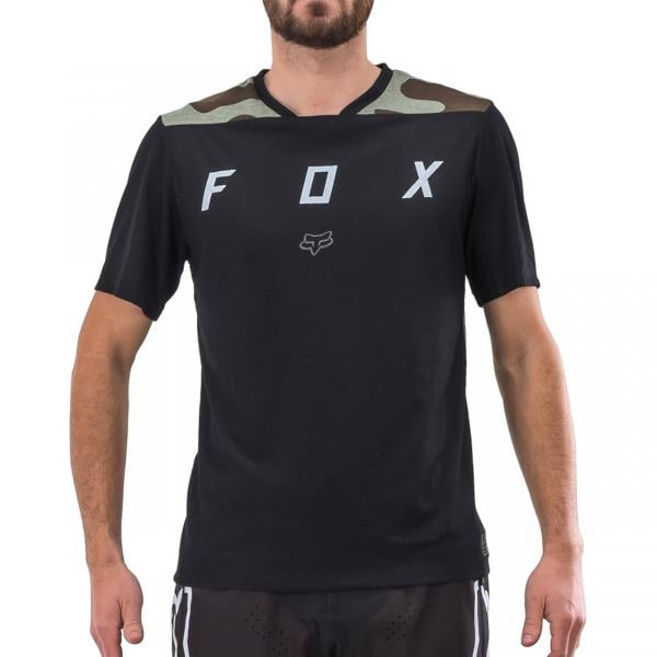 FOX INDICATOR MASH Short-Sleeved Jersey Black 2018 - Probikeshop 7e930206c