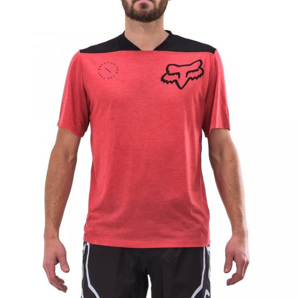 15f173260 FOX INDICATOR ASYM Short-Sleeved Jersey Red 2018 - Probikeshop