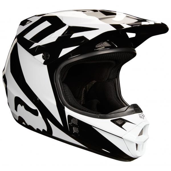 2f260f82 FOX V1 PRZM Kids Helmet Black/White 2019 - Probikeshop