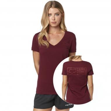 T-Shirt FOX TRACKER Femme Bordeaux 2019