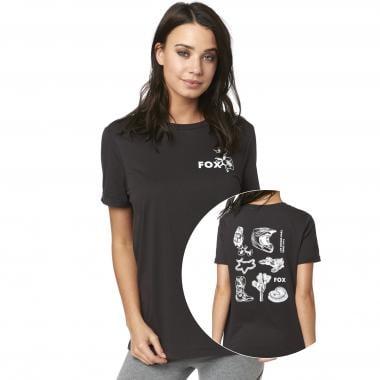 T-Shirt FOX LIVE FAST Femme Noir 2019