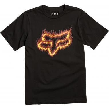 T-Shirt FOX FLAME HEAD Junior Noir/Orange 2019