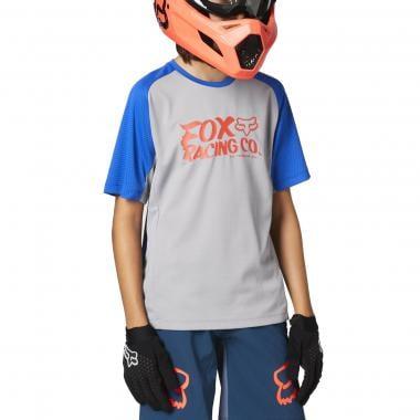 Maillot FOX DEFEND Enfant Manches Courtes Gris 2021